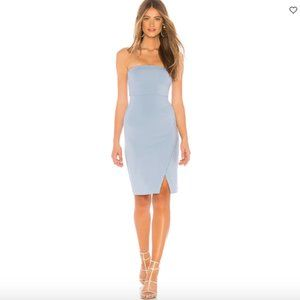 NWT NBD Wailea Strapless Midi Dress in Baby Blue